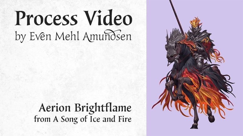 Digital Painting Process Aerion Brightflame Game of Thrones Fan Art