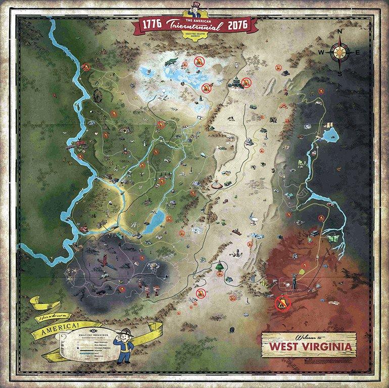 Где я могу построить свой Лагерь (C.A.M.P.) на карте Fallout 76 Wastelanders?