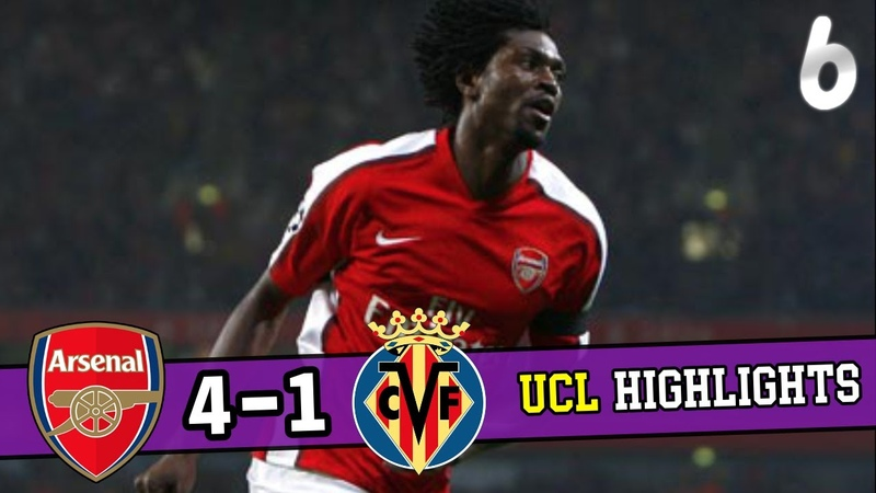 Arsenal vs Villarreal 4 1agg UCL2009 Quarter Finals 1 2 leg Highlights