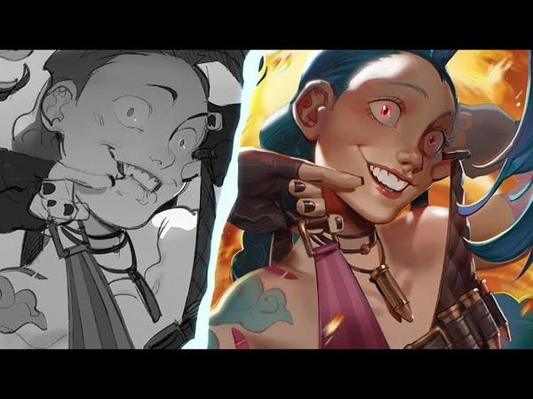 [Speedpaint] Jinx (LoL) Illustration!