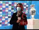 EURO 2020 trophy on Bucharest almoust destroed..