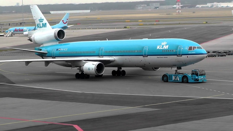 KLM MD 11 Push Back At Amsterdam Airport Schiphol