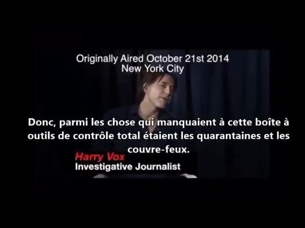 Entrevue d'Harry vox 21 octobre 2014 remplacé Ebola par covid et le tour est joué