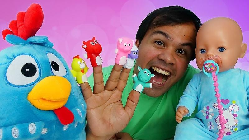 Os brinquedos preferidos do bebê Luizinho! Aprendendo a ser papai com a Galinha Pintadinha