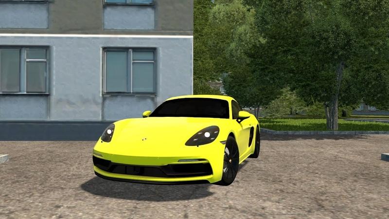 City Car Driving Porsche 718 Cayman GTS l Fast Driving CCD Gameplay G29