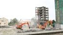 Демонтаж комплекса многоэтажных жилых зданий в Сочи.