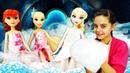 Игры для девочек - Маникюр и массаж для Принцесс Диснея! - Куклы Холодное Сердце и Рапунцель в СПА.