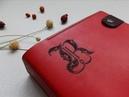 Ежедневник-органайзер на кольцах А5 Красный натуральная кожа CrustySoul