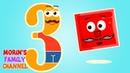 Изучаем цифру 3 ТРИ Развивающие мультики для детей 0-5 лет