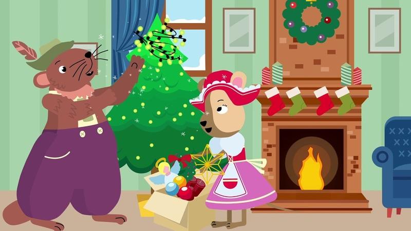 Йози и Зузи готовятся к Рождеству Детский мультфильм на немецком языке