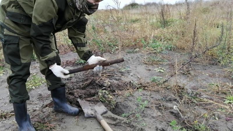 Коп металлолома на ферме!Поперли находки!!Попался копарь не закапывающий за собой ямы!Часть 1