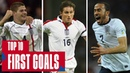 GERRARD, LAMPARD, BARNES Top 10 First Goals Scored by England Stars England