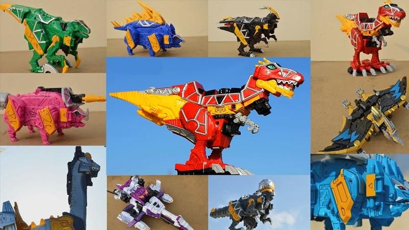 DX Gattai Zyuden Sentai Kyoryuger! Dinosaurus robots transformers. DX 獣電戦隊キョウリュウジャー! Power Rangers D