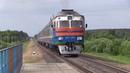 БЧ Дизель-поезд ДР1А-293 на о.п. Дудичи / BCh DR1A-293 DMU at Dudichi stop