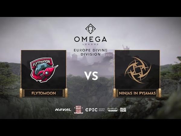 FlyToMoon vs Ninjas in Pyjamas OMEGA League Europe bo3 game 3 JotM Maelstorm