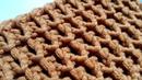Вяжем креативную объёмную сеточку спицами 🙂 knitting pattern.