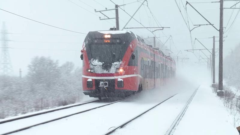 Штадлерские поезда близ ст Лагеди Stadler EMU's and DMU's near Lagedi