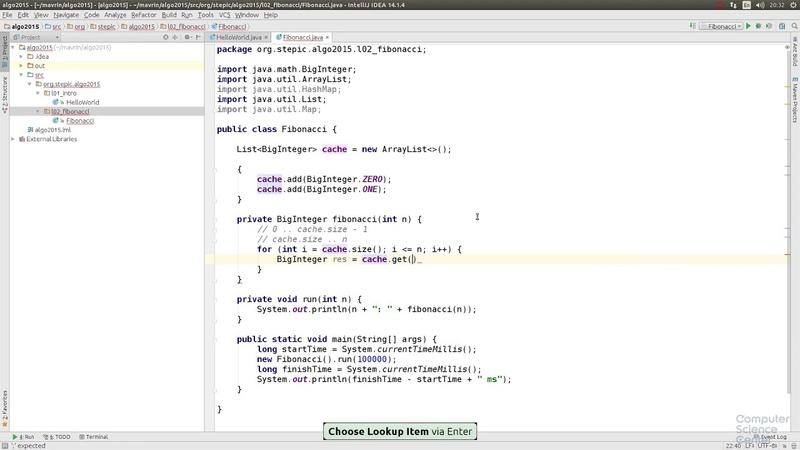 Алгоритмы | 3.8 Практика на Java Числа Фибоначчи 003