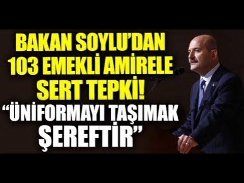 İçişleri Bakanı Süleyman Soylu 103 emekli amiralin bildirisine tepki gösterdi