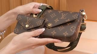 FELICIE STRAP GO Handbags M80091 Unboxing video display 上身展示