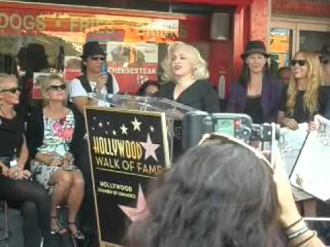 The Go Go's Hollywood Walk Of Fame Star Ceremony Jane Wiedlin Speaking