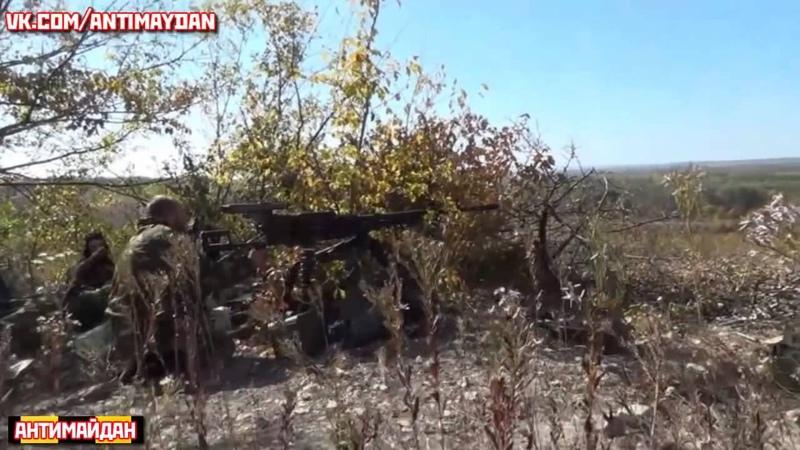 Прямое попадание по позициям нацгвардии Украины Батальон ОРЁЛ