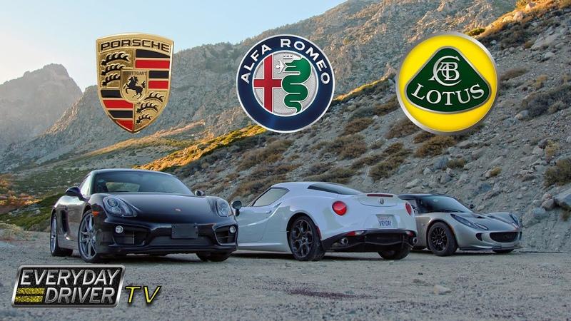 Cayman Alfa 4C Lotus Elise on California's best roads TV Season 1 Ep 6 Everyday Driver