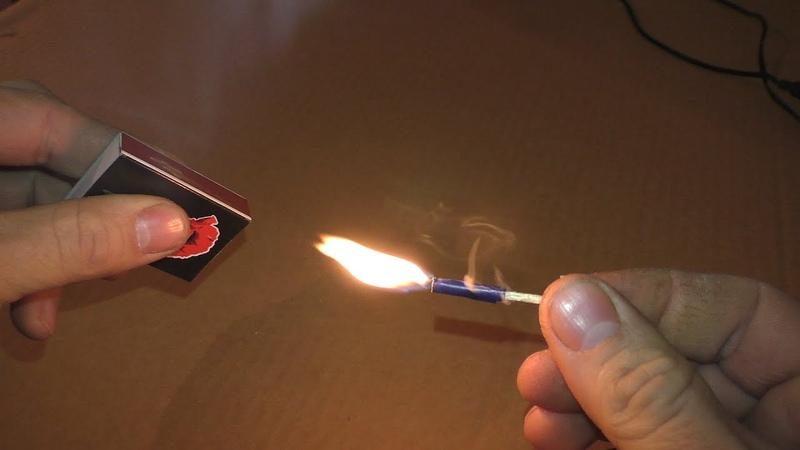 Можно ли сделать дымовуху из 1 спички Проверка обычных спичек