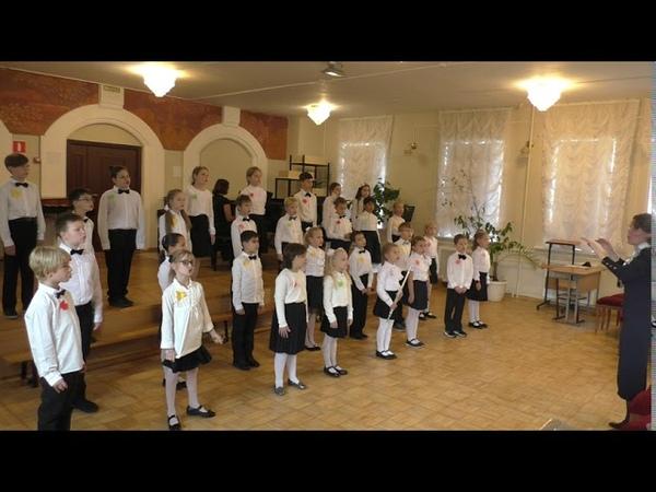 Выступление Младшего концертного хора ДМШ им. К.Н. Игумнова. Посвящается Дню Учителя.