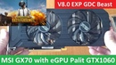 PUBG - eGPU GTX 1060 6Gb V8.0 EXP GDC MSI GX70 A10-5750M - Ultra Settings - Solo TPP