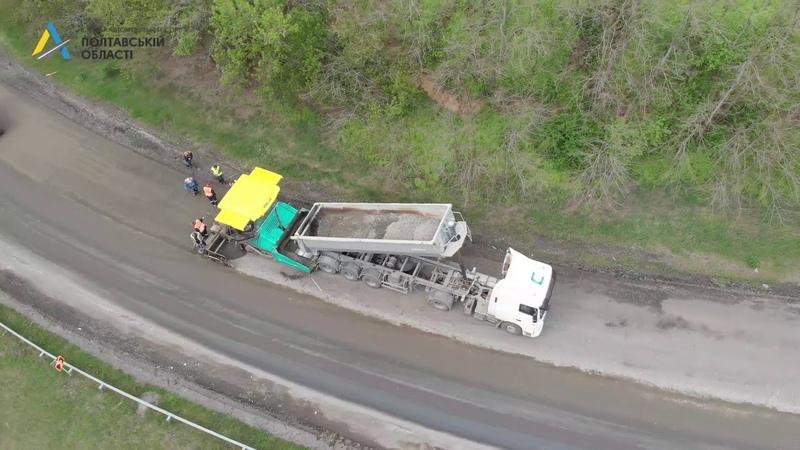 Поточний ремонт на автодорозі Р 60 Кролевець Пирятин