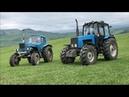 Гонки На Тракторах Трактор Беларус 1221 против Трактор мтз 82
