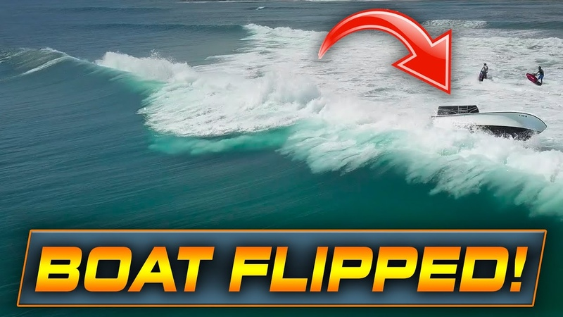 BOAT FLIPS WITH 6 PASSENGERS!! | Boats at Haulover Inlet
