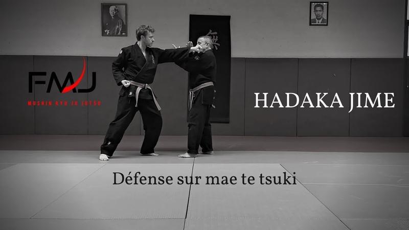 Arts martiaux Défense sur mae te tsuki Hadaka jime Mushin ryu ju jitsu japonais