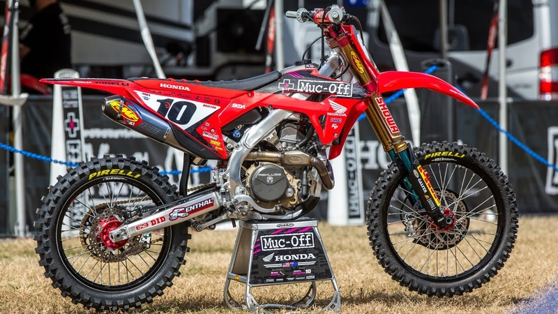 Inside Justin Braytons Factory Muc-Off Honda CRF450 - Motocross Action Magazine
