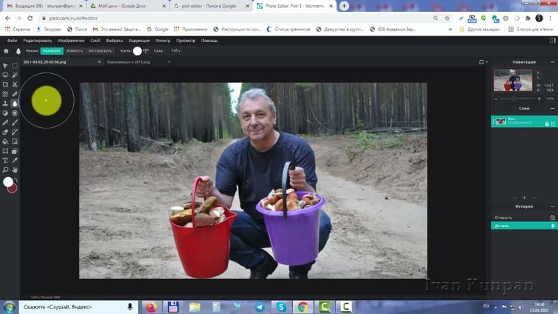Как сделать размытие в фотошопе (Pixlr Editor 2021), как растушевать картинку по краям