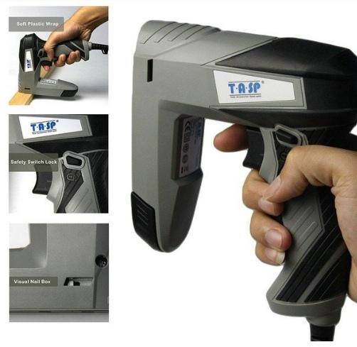 Электрический степлер под скобы 8-14 мм