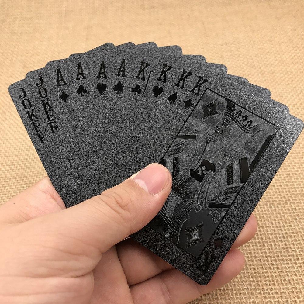 Черные игральные карты -