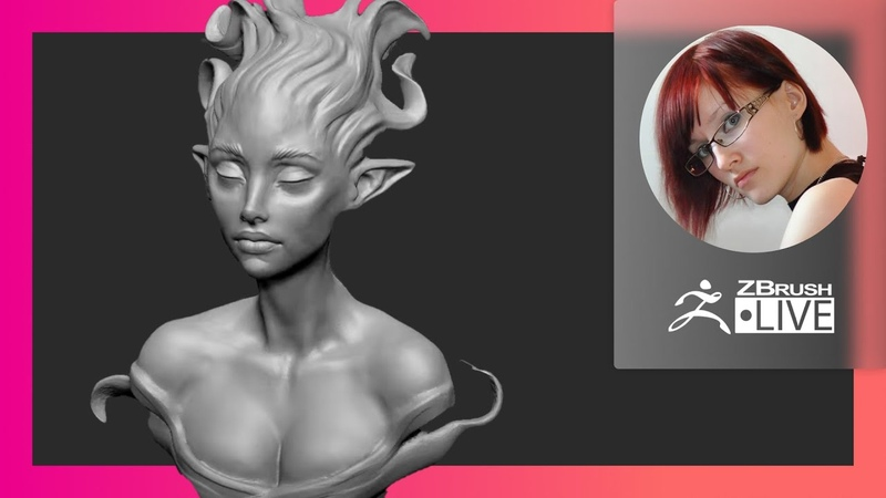 RU Создание стилизованных персонажей Elf Character Design Olya Anufrieva ZBrushCoreMini