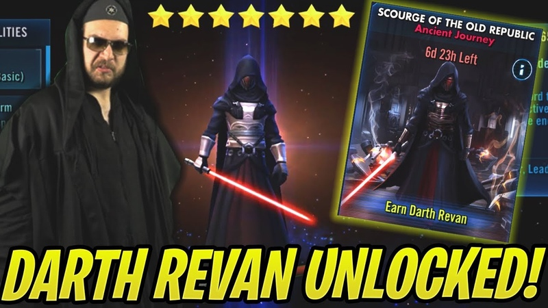 Darth Revan Unlocked How to Beat Tier 5 Easily NO ZETAS Scourge of the Old Republic SWGoH