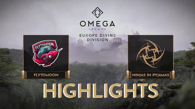 FlyToMoon vs Ninjas in Pyjamas Highlights OMEGA League Europe Divine Division
