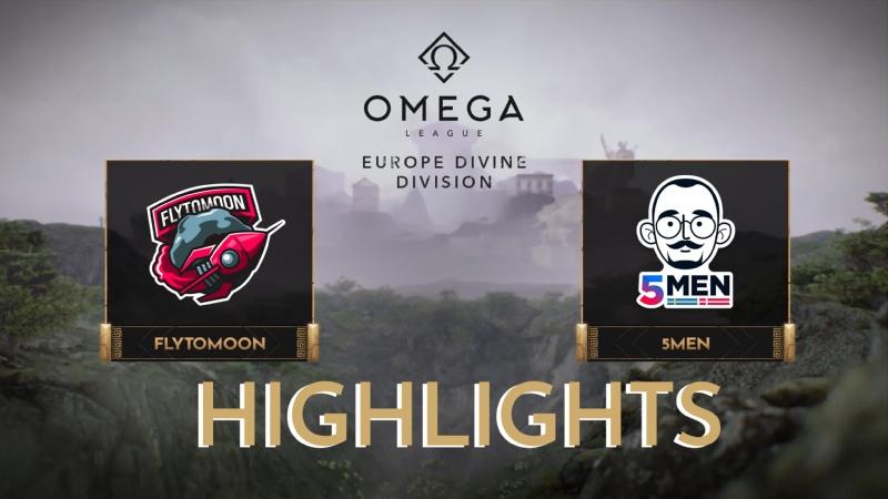 FlyToMoon vs 5men Highlights OMEGA League Europe Divine Division