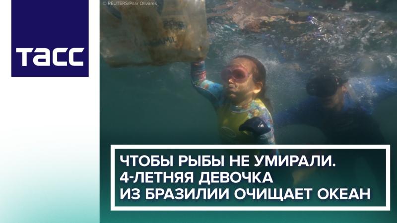 Чтобы рыбы не умирали Четырехлетняя девочка из Бразилии очищает океан