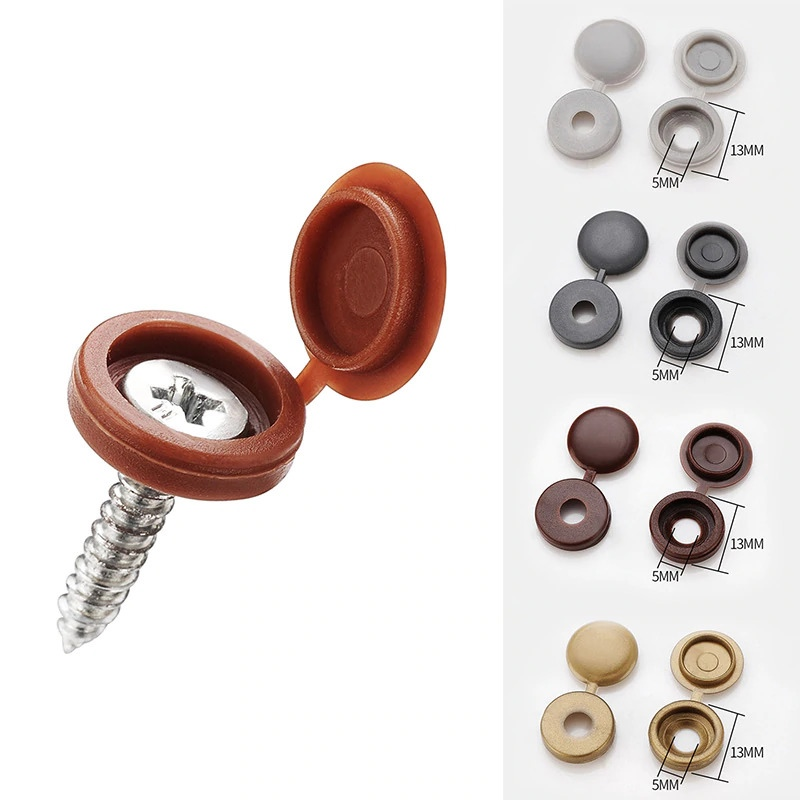 Пластиковые декоративные заглушки для саморезов потайных шурупов и другого крепежа -