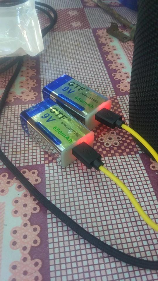 Аккумуляторные батарейки Крона -