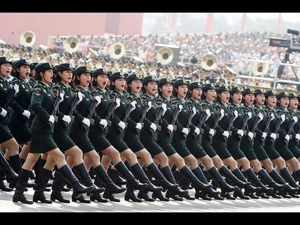 Çin Askerlerinin Geçit Töreni ve Yürüyüş Eğitimleri