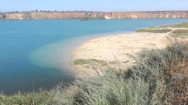 Голубое озеро песчаный карьер Село Самарское Ростовской области