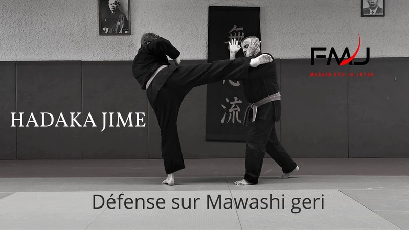 Défense sur Mawashi geri Hadaka jime Mushin ryu ju jutsu japonais