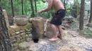 Примитивная жизнь построить новый дом из камня! Полное видео!
