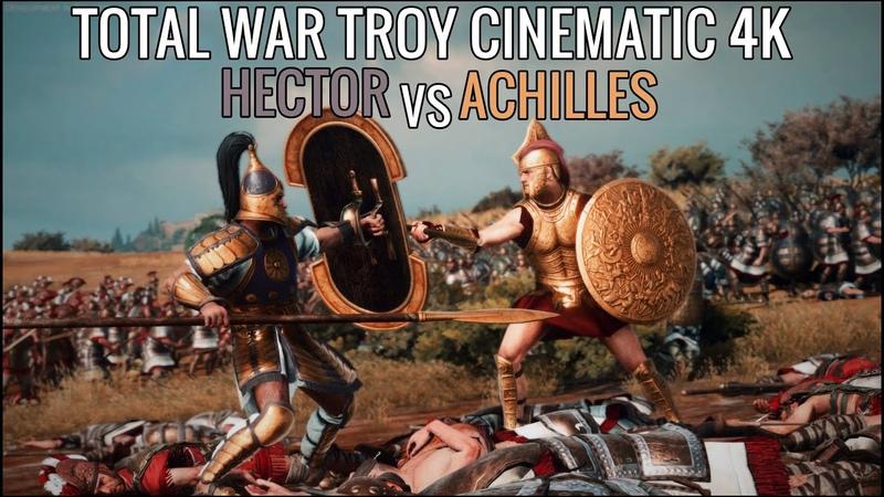 Total War Saga TROY Short Cinematic Battle l ACHILLES VS HECTOR l ULTRA GRAPHICS 4K